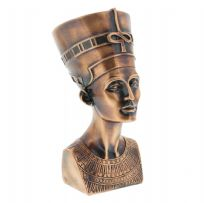 Ancient Egypt Collectables ~ Copper Finish Egyptian Queen Nefertiti